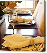 Table Set For Dinner Acrylic Print by Jeremy Allen