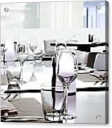 Table Setting Acrylic Print by Setsiri Silapasuwanchai