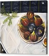Table With Figs Acrylic Print by Carol Sweetwood