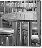 Tables And Stools Acrylic Print