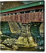 Taftsville Covered Brdidge Acrylic Print
