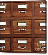 Tagged Drawers Acrylic Print