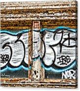 Tagged Window Acrylic Print
