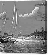 Tahitian Moon Acrylic Print by Joseph   Ruff