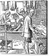 Tailors, 16th Century Acrylic Print