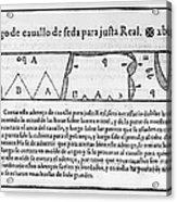 Tailors Pattern Book, 1589 Acrylic Print