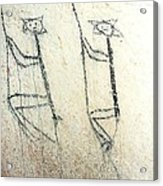 Taino Rock Climbers Acrylic Print by Ramon A Chalas-Soto