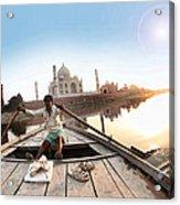 Taj In Sun Light Acrylic Print