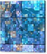 Take Me Geometric Blue Acrylic Print