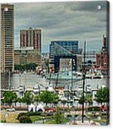 Tall Ships At Baltimore Inner Harbor Acrylic Print