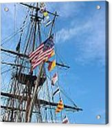 Tall Ships Banners Acrylic Print by David Bearden