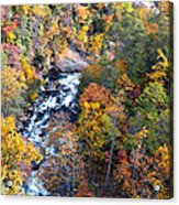 Tallulah River Gorge Acrylic Print by Susan Leggett