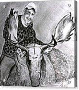 Tamed Moose Acrylic Print by Carolyn Ardolino