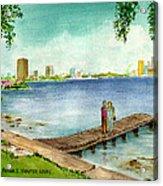 Tampa Fl Little Pier At Ballast Point Acrylic Print
