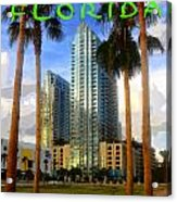 Tampa Florida Poster Work Number One Acrylic Print