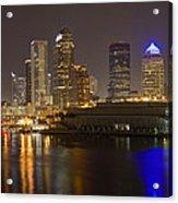 Tampa Nighttime Skyline Acrylic Print