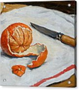 Tangerine And Knife Acrylic Print by Thor Wickstrom