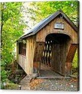 Tannery Hill Covered Bridge Acrylic Print