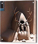 Taos Horno And Antlers Acrylic Print