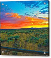 Taos Sunset Ix Acrylic Print