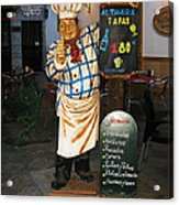 Tapas Man In Spain Acrylic Print