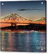 Tappan Zee Bridge Twilight I Acrylic Print