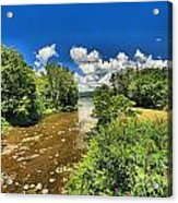 Taughannock Falls Creek Acrylic Print