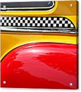 Taxi 1946 Desoto Detail Acrylic Print