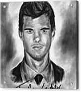 Taylor Lautner Sharp Acrylic Print by Kenal Louis