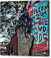Taz Welcomes You To Zombie Land Acrylic Print