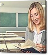 Teacher Portrait Acrylic Print