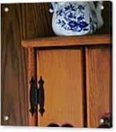 Teapot On Cabinet Acrylic Print