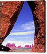 Teardrop Arch Monument Valley Acrylic Print