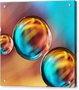 Techno-coloured Bubble Abstract Acrylic Print