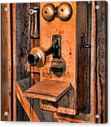 Telephone - Antique Hand Cranked Phone Acrylic Print