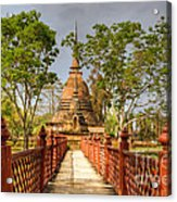 Temple Bridge Acrylic Print
