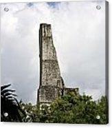 Temple Iv Roofcomb Tikal Guatemala Acrylic Print
