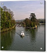 Temple Lock On The River Thames Acrylic Print