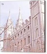 Temple Mormon In Temple Square Acrylic Print