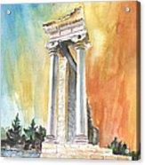 Temple Of Apollo In Kourion Acrylic Print