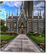 Temple Square Assembly Hall Acrylic Print
