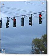 Ten Traffic Lights  Acrylic Print