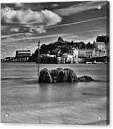 Tenby Harbour 1 Mono Acrylic Print