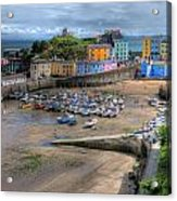 Tenby Harbour In Summer Acrylic Print