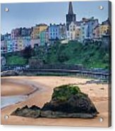 Tenby Over North Beach Painted Acrylic Print