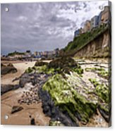 Tenby Rocks Painted Acrylic Print