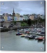 Tenby Town Across The Harbour Acrylic Print
