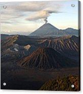 Tengger Caldera With Erupting Mount Acrylic Print