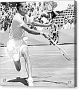 Tennis Champion Jack Kramer, Playing Acrylic Print by Everett