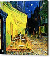 Terrace Of The Cafe On The Place Du Forum In Arles In The Evening Acrylic Print